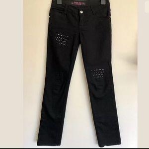 FACE OFF Black Embellished Skinny Leg Jeans Sz 9